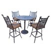 Darby Home Co Vandyne 5 Piece Bar Set with Cushions