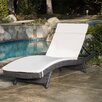 Darby Home Co Peyton Adjustable Wicker Chaise Lounge with Cushion