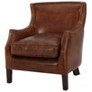 Darby Home Co Adelbert Kraig Top Grain Leather Arm Chair