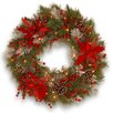 Darby Home Co Tewkesbury Tartan Plaid Wreath with 50 White LED Lights