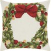 Darby Home Co Riverwoods Wreath Wool Throw Pillow