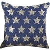 Darby Home Co Evergreen Beaded Stars Duck Cotton Throw Pillow