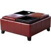 Darby Home Co Leatherwood Leather Cocktail Ottoman
