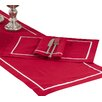 Darby Home Co Busch Classic Pleated Design Napkin (Set of 4)