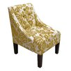 Alcott Hill Tufted Swoop Arm Chair