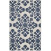 Alcott Hill Cottage Light Gray/Royal Blue Indoor/Outdoor Area Rug