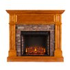 Alcott Hill Bluff Canyon Thornton Faux Stone Convertible Electric Fireplace