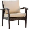 Alcott Hill Crane Wicker Club Chair with Cushion (Set of 2)