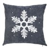 Alcott Hill Embellished Snowflake Outdoor Throw Pillow
