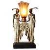 Charlton Home Hopwood Peacock Maidens Illuminated Figurine