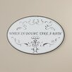 Charlton Home When in Doubt, Take a Bath Wall Plaque