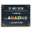 Charlton Home Family Routine Textual Art Plaque