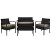 Charlton Home Wendell 4 Piece Seating Group with Cushions