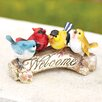 Halsey Welcome Garden Sign Statue - Charlton Home Garden Statues and Outdoor Accents