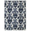 Three Posts Clarence Ivory Navy Indoor Outdoor Area Rug