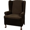 Charlton Home Blissfield Stretch One Piece Wing Chair T-Cushion Slipcover
