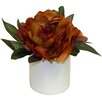 Charlton Home Fall Peony Floral Arrangement
