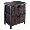 Charlton Home Clarissa 2 Drawers Storage Rack with Foldable