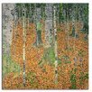 Varick Gallery The Birch Wood by Gustav Klimt Print Painting on Wrapped Canvas
