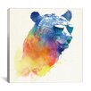 Varick Gallery Sunny Bear by Robert Farkas Print Painting on Wrapped Canvas