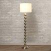 """Varick Gallery Pellston 59"""" Floor Lamp in Brushed Steel"""