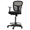 Varick Gallery Ninth Avenue Mid-Back Mesh Drafting Chair with Arms