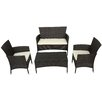 Varick Gallery Laverock 4 Piece Deep Seating Group with Cushions