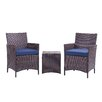 Varick Gallery Minden 3 Piece Lounge Seating Group with Cushion