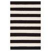 Varick Gallery Ritner Hand-Woven Black/White Area Rug