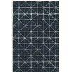 Varick Gallery Bushwick Hand-Tufted Blue/Beige Area Rug