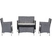 Brayden Studio Mckeever 4 Piece Deep Seating Group with Cushions
