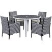 Brayden Studio Cooley 5 Piece Dining Set with Cushions