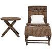 Bay Isle Home Kingpalm Outdoor 3 Piece Chair Set
