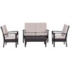 Brayden Studio Myers Outdoor 4 Piece Deep Seating Group with Cushions