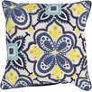 Brayden Studio Maisie Embroidered Cotton Throw Pillow