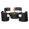 Brayden Studio Oahu 5 Piece Seating Group with Cushions