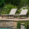 Brayden Studio Aruba Chaise Lounge with Cushion (Set of 2) (Set of 2)