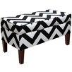 Brayden Studio Zig Zag Upholstered Storage Bedroom Bench