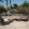 Brayden Studio Santa Cruz 12 Piece Deep Seating Group with Cushions