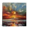 Brayden Studio Sunset Over Rum by Scott Naismith Painting Print on Wrapped Canvas