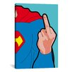 "Brayden Studio 'Super Finger' by Gregoire ""Leon"" Guillemin Graphic Art on Wrapped Canvas"