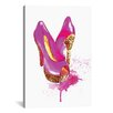 Brayden Studio Glitter High Heel by Rongrong DeVoe Painting Print on Wrapped Canvas