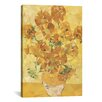 Brayden Studio Sunflowers Derezzed Graphic Art on Wrapped Canvas