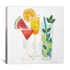 Brayden Studio Summer Drinks Artprint by Cat Coquillette Painting Print on Wrapped Canvas