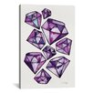 Brayden Studio Amethyst Tattoos Artprint by Cat Coquillette Graphic Art on Wrapped Canvas