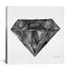 Brayden Studio Diamond Artprint by Cat Coquillette Painting Print on Wrapped Canvas in Black