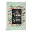Brayden Studio Butter Carb Flowers Mint Artprint by Cat Coquillette Painting Print on Wrapped Canvas
