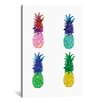 """Brayden Studio """"Pineapple"""" by Rongrong DeVoe Painting Print on Wrapped Canvas"""