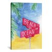 Brayden Studio Beach Avenue by Rongrong DeVoe Painting Print on Wrapped Canvas