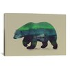 Brayden Studio Northern Light for Polar Bear by Andreas Lie Graphic Art on Wrapped Canvas